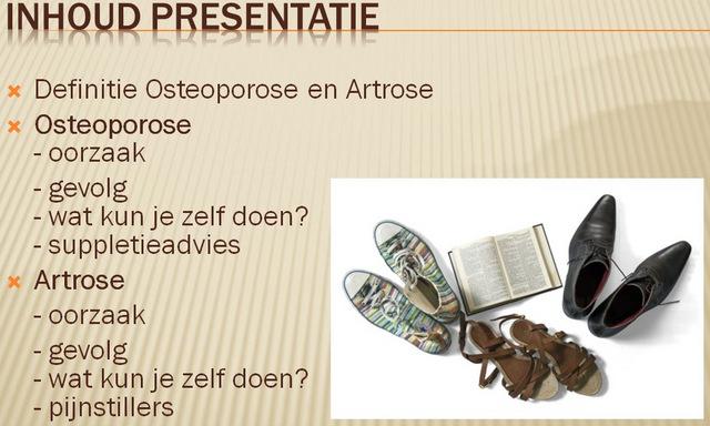 Presentatie Osteoporose & Artrose
