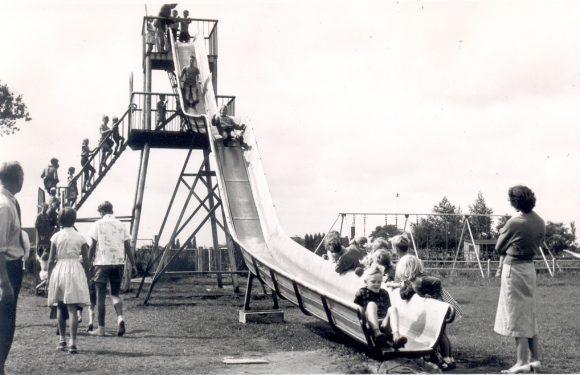 Speeltuin oude film en foto's